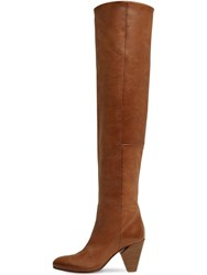 Strategia 80Mm Leather Over The Knee Boots Tan