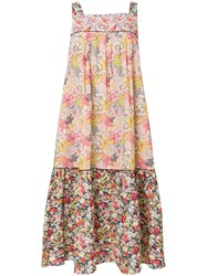Paul And Joe Floral Print Dress Nude And Neutrals