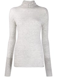 Patrizia Pepe Fitted Turtleneck Jumper Grey