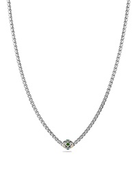 David Yurman Necklace With Chrome Diopside Green Onyx And 18K Gold Gold Silver