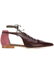 Malone Souliers 'Montana' Flat Ballerinas Pink And Purple