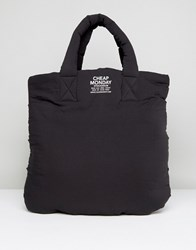 Cheap Monday Puffer Shopper Bag Black