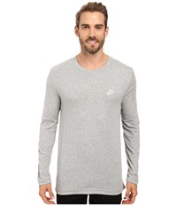 Nike Nsw Top Long Sleeve Jersey Club Dark Grey Heather White Men's Clothing Gray