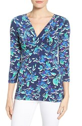 Chaus Women's Terrace Flowers Twist Front Top