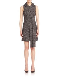 Michael Kors Double Breasted Shift Dress Black