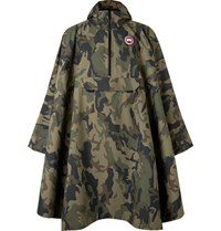 Canada Goose Field Camouflage Print Shell Poncho Green