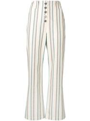 3.1 Phillip Lim Striped Kick Flare Pant Neutrals
