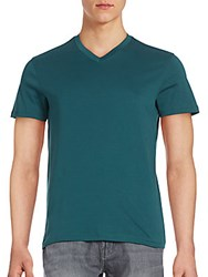 Saks Fifth Avenue Crewneck Pima Cotton Solid Tee Bayberry