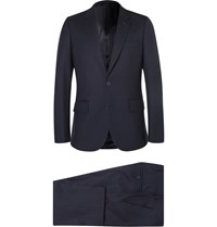 Paul Smith Navy A Suit To Travel In Soho Slim Fit Wool Suit Blue