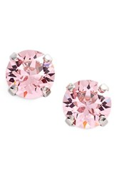 Women's L. Erickson 'Grace' Crystal Stud Earrings Light Rose Silver