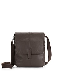 Cole Haan Leather Reporter Bag Chocolate