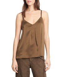 Vince Pleated V Neck Camisole Olive