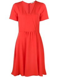 P.A.R.O.S.H. Flared V Neck Dress Women Polyester Xs