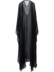 La Mania Long Cape Black
