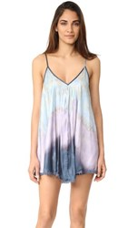Free People Serena Washed Slip Blue Combo