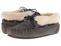 Minnetonka Chrissy Bootie Grey Suede Women's Slippers Gray