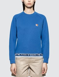 Maison Kitsune Fox Head Patch Jacquard Sweatshirt