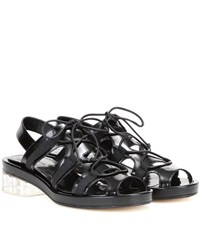Simone Rocha Leather Sandals Black