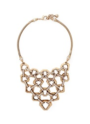 Lulu Frost 'Narcissus' Honeycomb Chain Link Plastron Necklace Metallic
