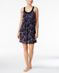 Alfani U Neck Printed Knit Chemise Only At Macy's Purple Floral