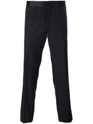 Versace Side Stripe Dinner Trousers Black