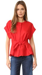 Sea Tied Top Red