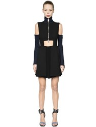 Versus Viscose Wool Knit Dress W Zips