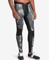 Polo Ralph Lauren Sport Men's Camouflage Compression Jersey Tights Grey Camo
