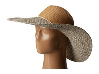 Echo Multi Braid Floppy Sun Hat Linen Caps Beige