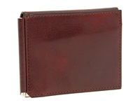Bosca Old Leather Collection Money Clip W Pocket Cognac Leather Wallet Brown