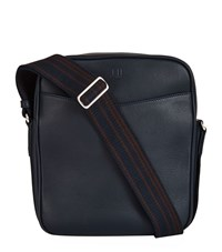Dunhill Stripe Strap Pouch Bag Unisex Navy