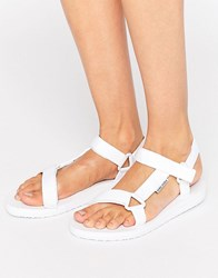 Vero Moda Side Buckle Sandals White