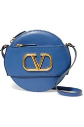 Valentino Garavani Vlogo Leather Shoulder Bag Blue