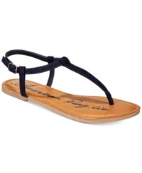 77050ac25e3 American Rag Krista T Strap Flat Sandals Created For Macy s Women s Shoes  Navy