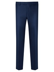 Daniel Hechter Flannel Tailored Suit Trousers Blue