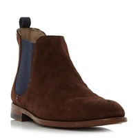Oliver Sweeney Silsden Brogue Toe Chelsea Boots Medium Brown