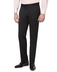 Stefano Ricci Flat Front Wool Formal Pants Black