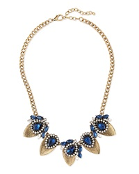 Jules Smith Designs Jules Smith Crystal Teardrop Statement Necklace Navy