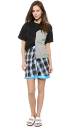 Marc By Marc Jacobs Blurred Gingham Misty Plastic Dress Black Multi