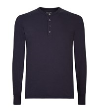 Tom Ford Henley Tee Male Navy