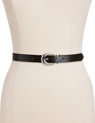 Lauren Ralph Lauren Saffiano Leather Reversible Belt Black