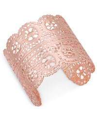 Inc International Concepts Rose Gold Tone Filigree Cuff Bracelet Only At Macy's