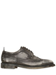 Thom Browne Sanded Leather Brogue Derby Shoes