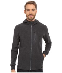 Prana Drey Full Zip Coal Men's Long Sleeve Pullover Gray