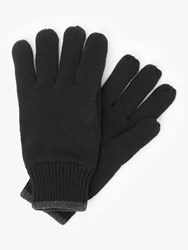 John Lewis And Partners Colour Tipped Fleece Gloves Black Charcoal