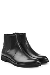 Dolce And Gabbana Leather Chelsea Boots Black