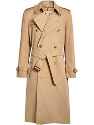 Burberry The Long Kensington Heritage Trench Coat Nude And Neutrals