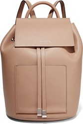 Michael Kors Leather Backpack Taupe