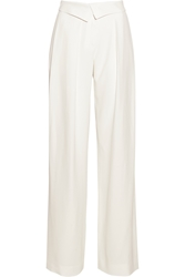 Jason Wu Pleated Crepe Wide Leg Pants