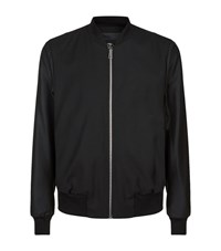 Paul Smith Ps By Lightweight Wool Bomber Jacket Male Black